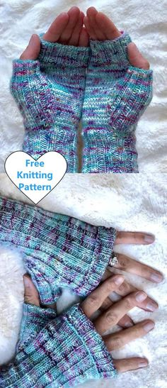 Free Knitting Pattern for Easy Ribbed Mitts – knitting stitches rib Knitted Mittens Pattern, Fingerless Gloves Knitted, Knit Mittens, Knit Hats, Christmas Knitting Patterns, Knitting Patterns Free, Free Pattern, Amigurumi Patterns, Knitting For Kids