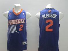 Phoenix Suns #2 Eric Bledsoe Revolution 30 Swingman Purple Jersey