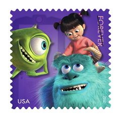 USPS Disney Pixar Characters Stamps Available Starting Today!