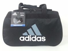NWT Adidas Black/Gray Diablo Small Duffel Bag Sport Gym Travel Carry On Expandab #adidas #DuffleGymBag #ebay #adidas #DuffleGymBag