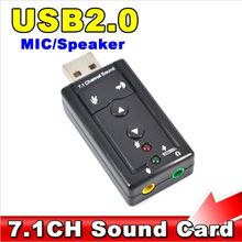 Mini Channel 7.1 CH 3D External USB Audio Sound Card 3.5mm Jack Stereo Headset Mic Adapter For Win XP 7 8 Android Linux Mac OS