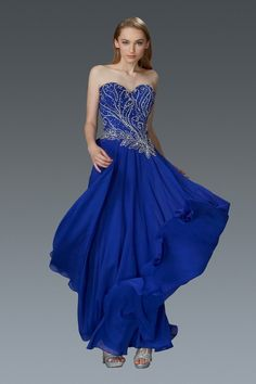 G2114 Strapless A-line Prom Dress Long Formal Evening Gown