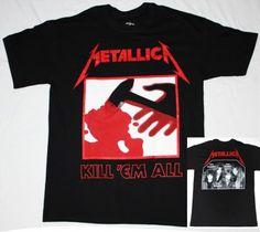 METALLICA KILL'EM ALL 1984  NEW BLACK T-SHIRT
