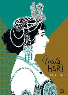 Mata Hari from the cartoonist DIGLEE