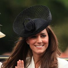 ebcc5b2b75c Kate wore this black basket hat by Sylvia Fletcher for Lock   Co. for the  Trooping the Colour