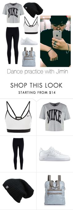 """Dance practice with Jimin"" by bts-outfit-imagines ❤ liked on Polyvore featuring NIKE and LeSportsac"
