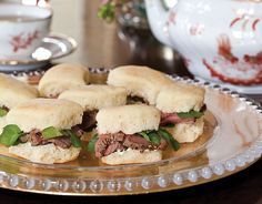 Beef au Poivre and Watercress Tea Sandwiches. These watercress tea sandwiches are made even better with caramelized shallot butter.