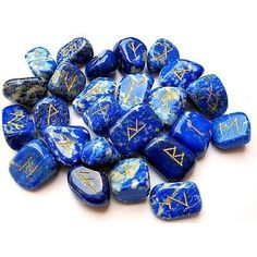 A   Lapis Lazuli Rune Stone Set Thick Genuine Healing Positive Energy Love Spiritual Divine Psychic *** You can get more details by clicking on the image. (This is an affiliate link) #HealthCare