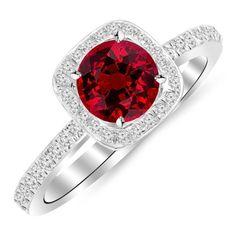 1.3 Carat 14K Gold Classic Halo Style Cushion Shape Diamond Engagement Ring 14K Gold with a 1 Carat Round Cut AA Quality Ruby, http://www.amazon.com/dp/B00JI3SJNK/ref=cm_sw_r_pi_awdm_WyI7tb0QEYAGV