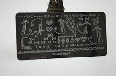 Cat and more stamping plate
