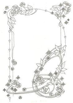 Art Nouveau frame by ~elegaer on deviantART