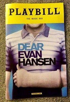 Dear Evan Hansen Playbill - Ben Platt's Final Show