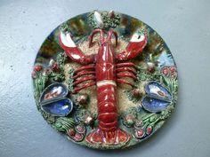 Majolica Palissy Lobster Plate Caldas Da Rainha Alvaro Jose Signed Portugal   eBay