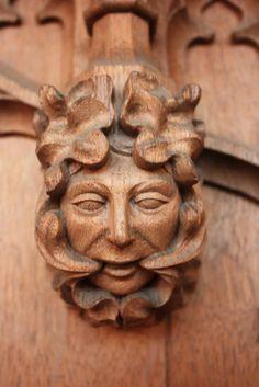 Brown - Lancing's Foliate Heads by sliabhnacailleach - Sliabh Na Cailleach