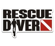 Rescue Diver Scuba Diving Flag Sticker Decal