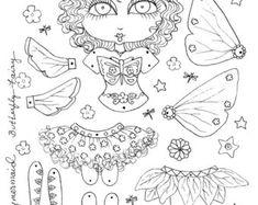Fairy Paper Doll papier en lint Doll Decor van door JuliaPeculiar