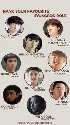 Kyungsoo TV roles