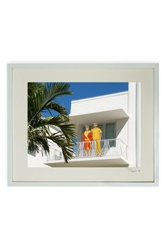 Hand-Signed Barbie and Ken Morning on the Terrace Framed Print by Barbie and Ken