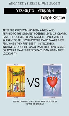 Yes or no Tarot spreads