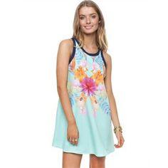 Pretty Floral Print Shift Dress