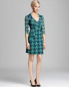 Sweet Pea Wrap Dress - Houndstooth on shopstyle.com