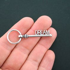 6 Key Charms Antique Silver Tone Large Dream by BohemianFindings Unique Jewelry, Jewelry Ideas, Antique Silver, Etsy Seller, Charms, Silver Rings, Key, Personalized Items, Beads