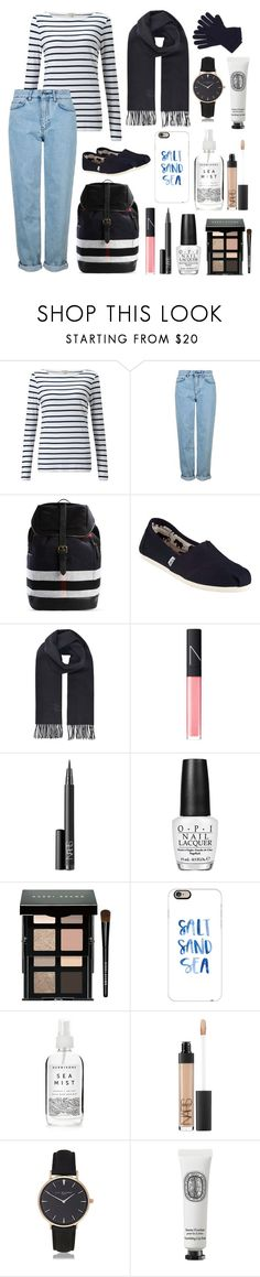 """121116"" by urbancatlitter ❤ liked on Polyvore featuring Jigsaw, Topshop, Burberry, TOMS, Vivienne Westwood, NARS Cosmetics, OPI, Bobbi Brown Cosmetics, Casetify and Herbivore"