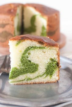 Pistachio Marble Pound Cake -- Victor would like this as a birthday cake, too. I would simply use my own cream cheese pound cake recipe, reserve a cup of battter and stir in some pistachio pudding mix, then swirl through. Pistacia Vera, Marble Pound Cakes, Marble Cake, Cookie Recipes, Dessert Recipes, Yummy Cakes, Just Desserts, Sweet Recipes, Love Food