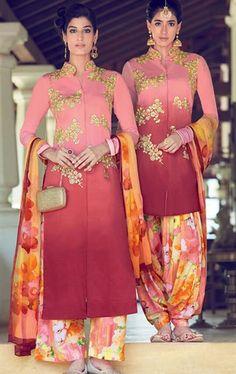 Spectacular Pink Cotton Salwar Kameez
