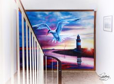 """""""Tern (Seeschwalbe)"""" at Haus Seeschwalbe in Cuxhaven, Germany by GODLING, 2015."""