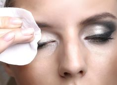 Remove eye makeup. | 21 Insanely Helpful Ways To Use Your Hair Conditioner