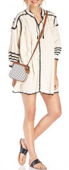 Black + Cream Casual Beach Outfit