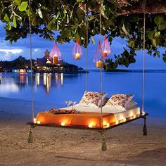 Relaxing beach vacation in Sandals Royal Caribbean - Montego Bay, Jamaica. Romantic honeymoon or babymoon getaway. Lying in that bed by the beach is better than a hammock! Oh The Places You'll Go, Places To Travel, Places To Visit, Royal Caribbean, Caribbean Resort, Vacation Destinations, Dream Vacations, Romantic Destinations, Romantic Places