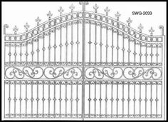 Iron Gate Designs | Wrought Iron | Fleur De Lis Gate