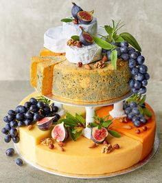 Wedding Cakes No sweet tooth? No problem. There are plenty of savoury wedding cake options out there. If you've been dreaming about a cheese wedding cake, then this cheese celebration cake from Marks Fancy Wedding Cakes, Unusual Wedding Cakes, Cake Wedding, Wedding Music, Alternative Wedding Cakes, Wedding Cake Alternatives, Traditional Wedding Cakes, Wedding Cake Inspiration, Cake Servings
