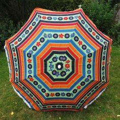 1960s' vintage garden parasol www.vintageactually.co.uk
