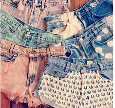 DIY shorts with a bleach pen or by sewing fabric to a pocket or the front of shorts