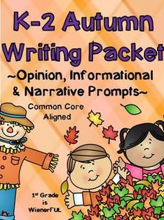 FREEBIES in the Download Preview!!! Fall~Autumn Journal Writing for K-2: Opinion, Informational, and Narrative writing prompts! Different levels to choose to fit the needs of your students! Fall, Apples, Pumpkins, Halloween, and Thanksgiving!