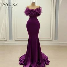 Purple Evening Gowns, Mermaid Evening Gown, Ball Gowns Evening, Elegant Evening Dresses, Senior Prom Dresses, African Prom Dresses, Cute Prom Dresses, Ball Gown Dresses, Dress Up