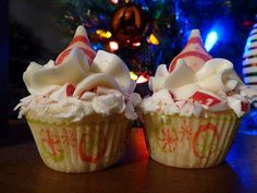 Yummy peppermint cupcakes