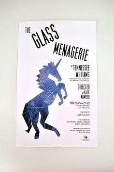The Glass Menagerie Poster by Katrine Guzman, via Behance