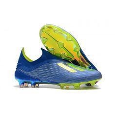 info for 86f45 b87c0 Botas De Futbol Adidas X 18+ FG Azul Amarillo Negro Outlet