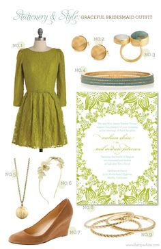 Stationery & Style: Graceful Bridesmaid Outfit