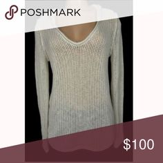 James Perse Hoodie Sweater (size 2) JAMES PERSE New Hoodie Sweater Size 2 Medium Beige Loose Knit Pullover Hood. Good preowned condition James Perse Tops Sweatshirts & Hoodies