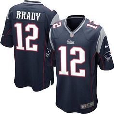 Youth Blue NIKE Game New England Patriots http://#12 Tom Brady Team Color NFL Jersey $59.99