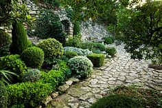 stone, greenery, beautiful