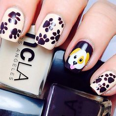 Aww!!! Little puppy paw print nails!