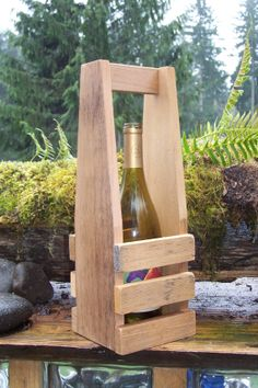 One Bottle Wine Carrier by LaceyWoodworks on Etsy