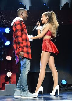 Pin for Later: 17 Times Celebrities Totally Outdressed Their Dates Ariana Grande and Big Sean