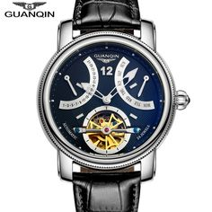 72.24$  Buy here - http://ali1ub.worldwells.pw/go.php?t=32610031439 - Luxury Brand GUANQIN 2016 Fashion Casual Watches Men Automatic Mechanical Watch Waterproof Luminous  Gold Wristwatches 72.24$